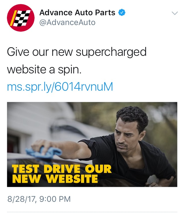 Advance Auto Parts New Website