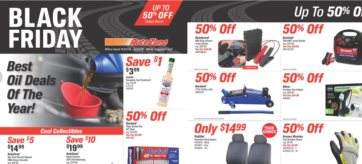 AutoZone Black Friday Ad 2018