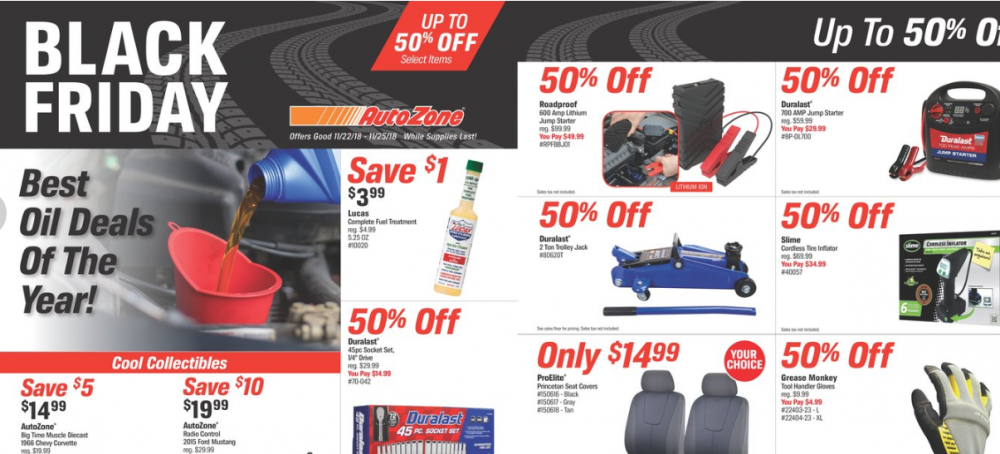 Auto Zone Black Friday Ad