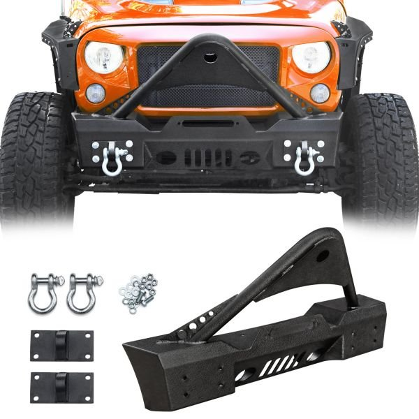 Stinger Front Bumper with Two D-Ring for Jeep Wrangler.jpg