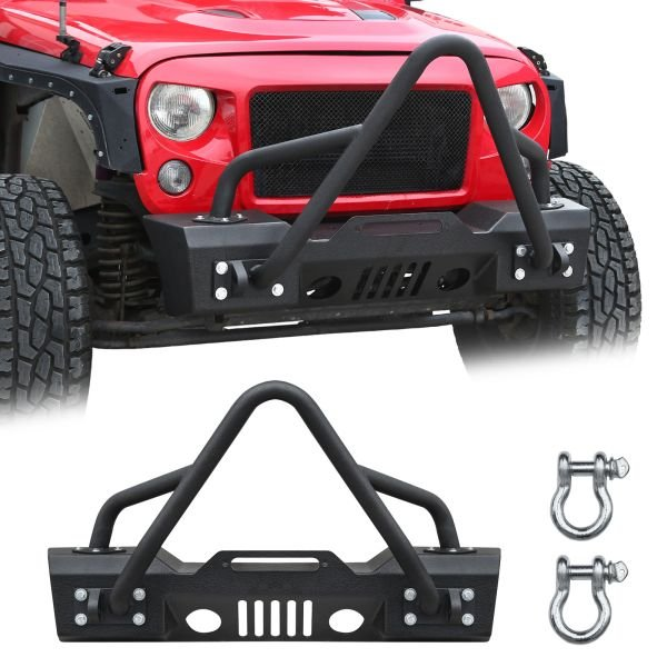 Rock Crawler Front Bumper with Two D-ring for Jeep Wrangler_2.jpg